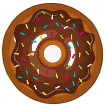 vloerkleed donut 75 cm bruin