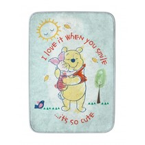 vloerkleed Winnie the Pooh blauw 70 x 95 cm