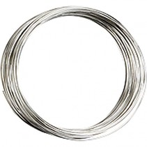 armband Memory Wire staal 9,7 / 5 cm zilver per stuk