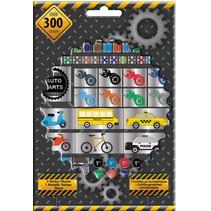 stickers junior 21 m papier zwart 300 stuks