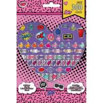stickers meisjes 21 m papier roze 300 stuks
