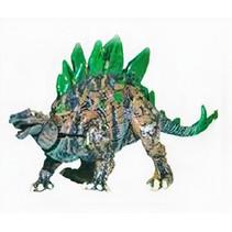 speelfiguur medusaceratops junior 11 cm bruin/groen