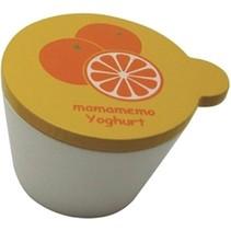 bakje sinaasappelyoghurt hout 4 cm wit/oranje