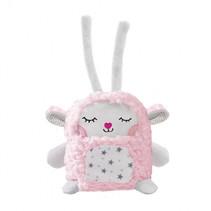 knuffel Tess Emotimals 30 x 20 cm roze/wit