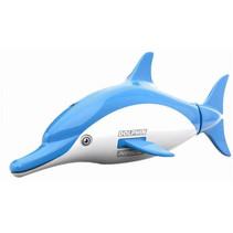 dolfijn RC junior 9 x 7,5 cm blauw 2-delig