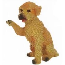 speelfiguur Toy Poedel junior 9 cm bruin