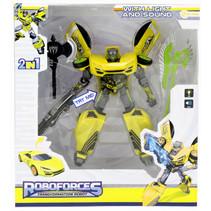 robot Roboforces jongens 19 cm geel/zilver