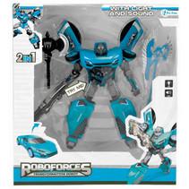 robot Roboforces jongens 19 cm blauw/zwart