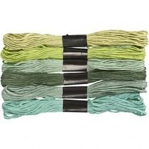 borduurgaren 6 stuks 8 m groen