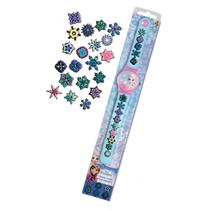 knutselset horloge Frozen meisjes 28 cm rubber blauw/roze