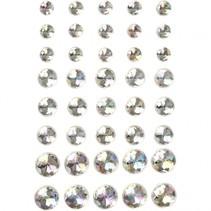 strasstenen zilver 6 + 8 + 10 mm 40 stuks