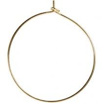 oorbellen metaal 30 mm goud 6 stuks