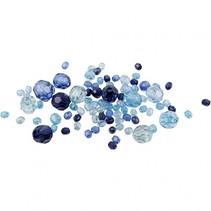 facetkralen mix blauw 250 g