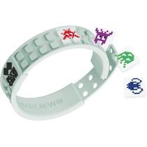 pixel armband Space Invader wit 35-delig