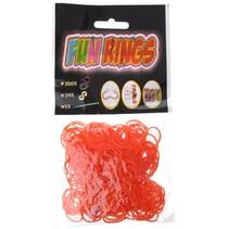 Fun Rings armband vlechten oranje 325-delig