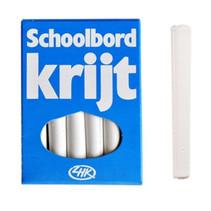 schoolbordkrijt 8 cm wit 12 stuks