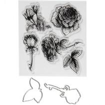 embossing folders, stempels en snijmallen 4 x 6,5 cm