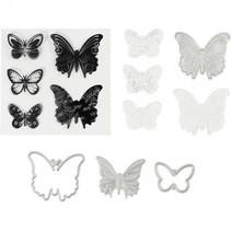 embossing folders, stempels en snijmallen 3,5 x 5,5 cm