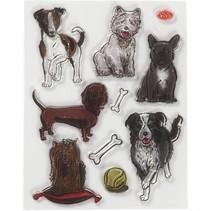 stempels honden siliconen 14 x 18 cm