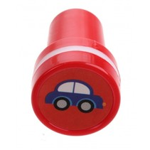 stempel auto rood/wit