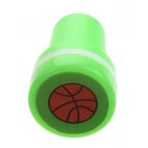 stempel basketbal groen/wit