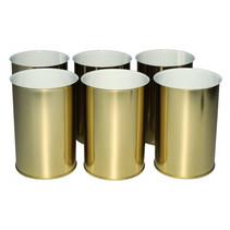 kaarsenhouders junior 12 cm staal goud 6 stuks