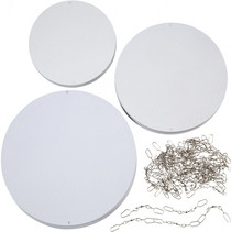 knutselset Cirkels 12-15-18 cm karton wit 60 stuks