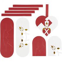 bouwset gevlochten harten notenkraker rood/wit 8 stuks