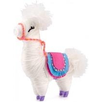 knutselset Yarn Animals Lama junior 14-delig