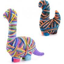knutselset Yarn Animals Dinosaurus junior 25-delig