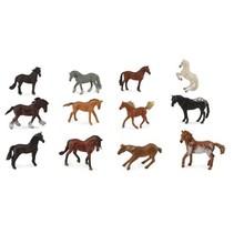 mini paarden 12 stuks