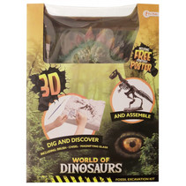 opgraafkit World of Dinosaurs stegosaurus gips 5-delig