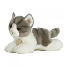 knuffelkat Mini Yoni grijs/wit 20 cm