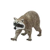 wilde dieren Wasbeer junior 10 cm lichtbruin/zwart/wit