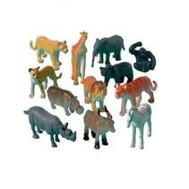 speelset wilde dieren 12 stuks