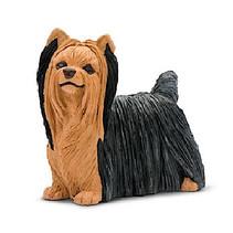 speeldier yorkshire terrier 5,5 cm bruin/wit