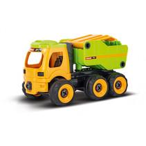 RC kiepwagen 25,4 cm groen/geel 2-delig