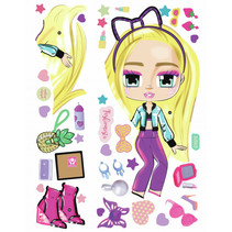 muurstickers LOL Boxy Girls Hazel 92,7 cm 41-delig
