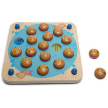 memory-spel Memo Vissen 26 x 26 cm hout/karton 20-delig