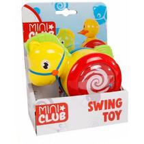 babyspeelgoed rollende eend 13 cm geel/rood