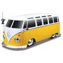 bus RC Volkswagen Samba 1962 1:24 geel/wit 2-delig