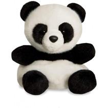 knuffel Palm Pals panda junior 13 cm pluche zwart/wit