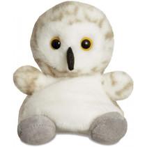 knuffel Palm Pals sneeuwuil 13 cm pluche crème/wit