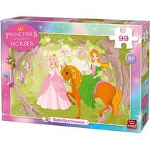 legpuzzel Butterfly Princesses meisjes karton 99-delig