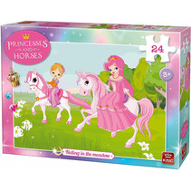 legpuzzel Riding in the Meadow karton meisjes 24-delig