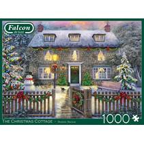legpuzzel kersthuis 68 x 49 cm karton groen 1000 stuks