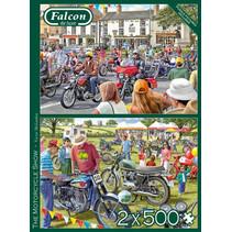 legpuzzel motorshow 37 x 27 cm karton 500 stukjes 2 stuks