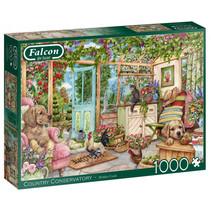 legpuzzel landhuisje 68 x 49 cm karton groen 1000 stukjes