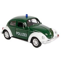 schaalmodel VW Beetle politieauto 1:38 die-cast groen