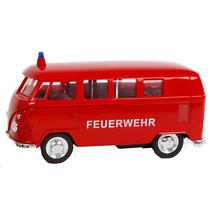 schaalmodel VW T1 brandweerwagen jongens die-cast rood